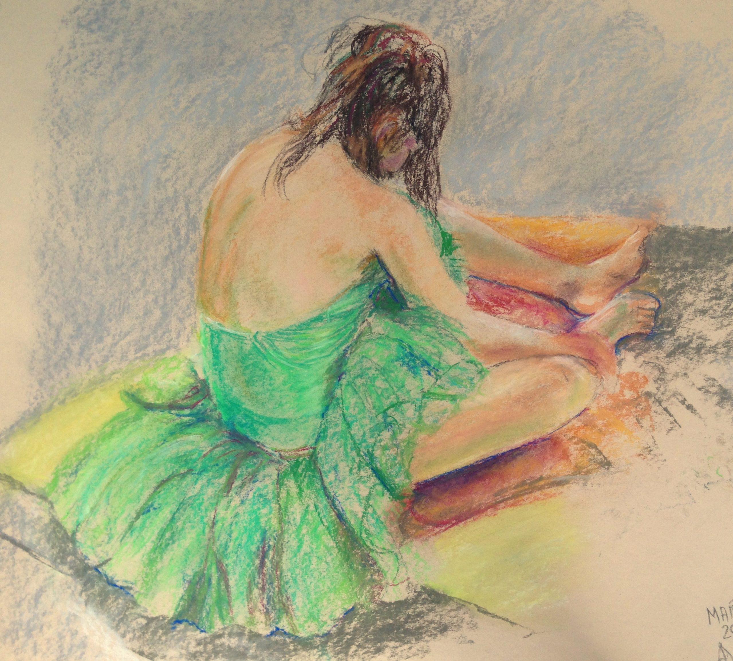 Relaxing ballerina