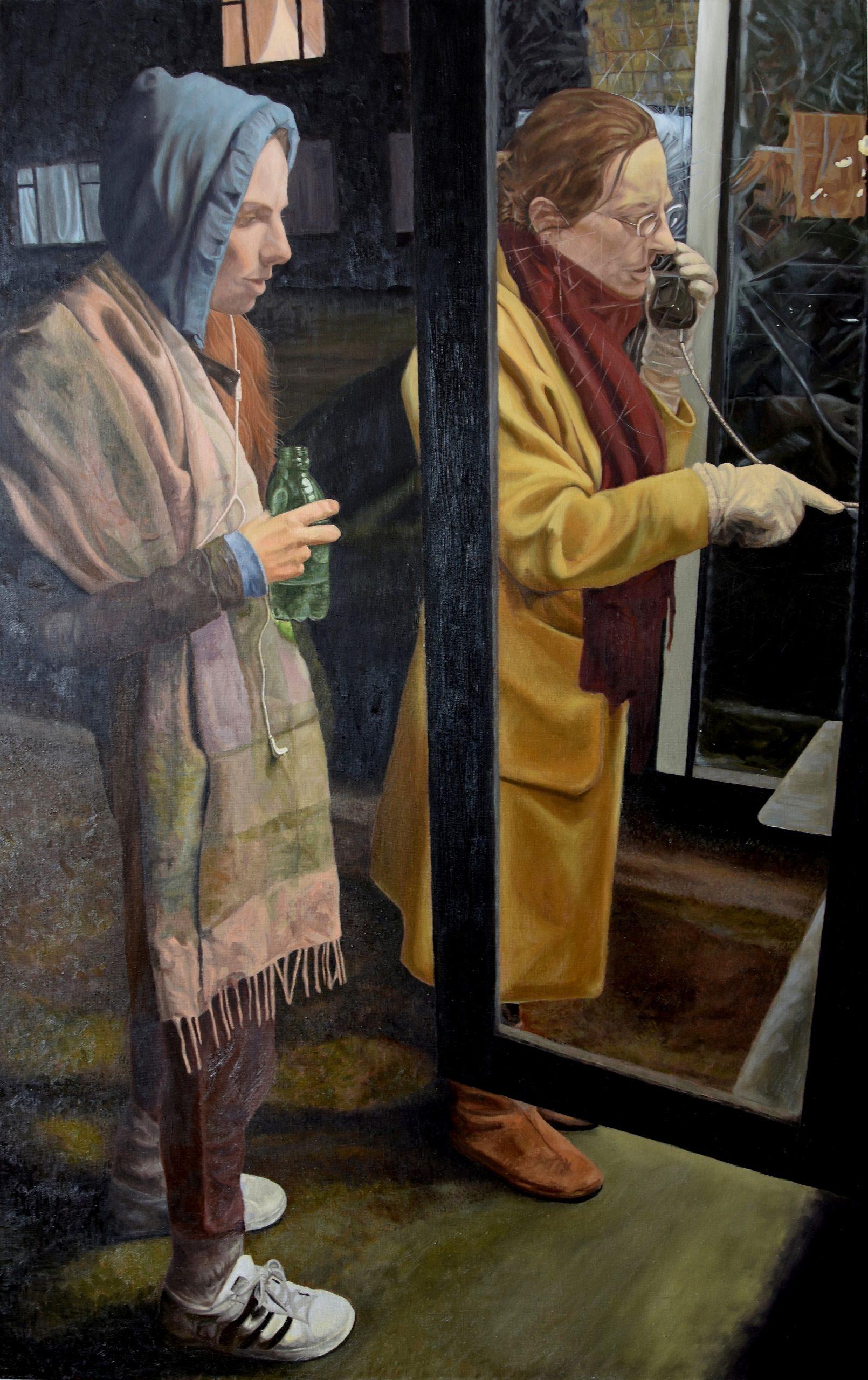 Midnight Call, Hun Adamoglu, 2018, 77 x 122 cm, Oil on Canvas, under 3mb-0e5fb661
